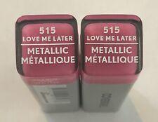 (2) Covergirl Exhibitionist Metallic Lipstick, 515 Love Me Later