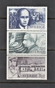 Sweden Stamps 1987 Swedes in the Service of Mankind Complete set MNH