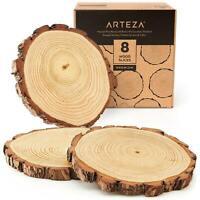 ARTEZA Large Wood Slices - Set of 8