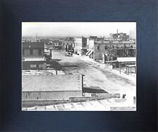 Downtown 1910 Las vegas American Vintage Old City Wall Decor Framed Picture