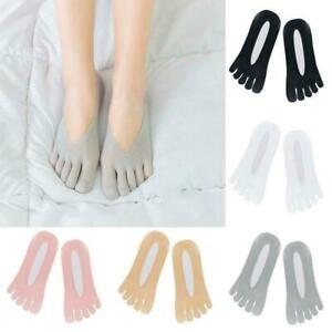 1~5pairs Orthopedic Compression Socks Women Toe Low Cut Liner with Gel Tab UK