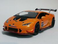 "Kinsmart 5"" Lamborghini Huracan LP620-2 Super Trofeo Diecast Model 1:36 Orange"