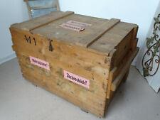 U9758 Vieux Caisse en Bois Coffre de Transport Table Basse Boîte Munitions