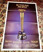Ruthless People (1986) Original Movie Poster - Bette Midler, Danny DeVito, Nice