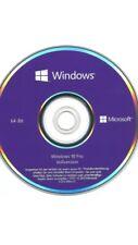 Microsoft Windows 10 Professional 64 Bit DVD Deutsch Vollversion Neu KEY
