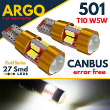 501 LED T10 CAR SIDE LIGHT BULBS ERROR FREE CANBUS 27 SMD XENON HID WHITE 12V