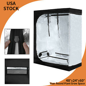 """48""""x24""""x60"""" Grow Tent Box Hydroponic Indoor Plant VEG Thick Oxford Growing Room"""
