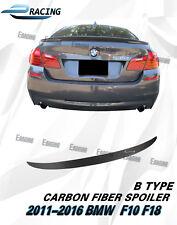 Carbon Fiber Trunk Spoiler For 2011-2016 BMW F10 F18 528i 535i 550i M5 Type B