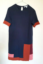 & Other Stories Jersey straight Dress Colour Block Navy Office Size UK 8 EU 36