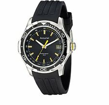 Accurist Gents Black Silicon Strap Watch MS860BB RRP £70