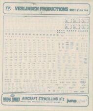 VERLINDEN 1/72 PLANCHE DECAL A SEC INSIGNES POUR AVIONS GRIS POUR DIORAMA
