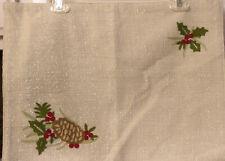 """New listing 5 Better Homes And Gardens Holiday Placemats Heritage Pinecone 14"""" X 19"""" Nwt 00006000"""