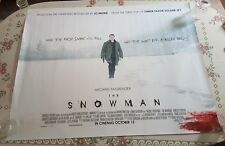 The Snowman UK Cinema Quad Poster (2017)  Fassbender