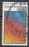 USA Briefmarke gestempelt 20c Science and Industry Rundstempel / 2719