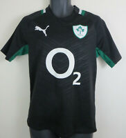 Ireland Puma IRFU Rugby Union Irish Shirt Jersey Black Top Adult Mens Small S