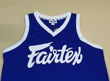 VEST FAIRTEX TANK TOP XL BLUE SLEEVELESS SPORT WEAR JOGGING RUNNING GYM  FITNESS