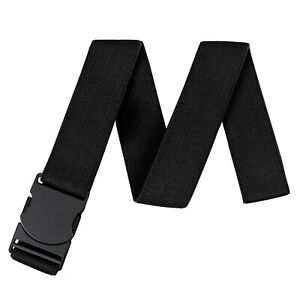 JASGOOD Men Invisible Stretch Adjustable Belt No Show Belt with Flat Buckle 7003