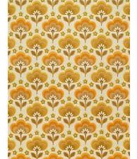 ORIGINAL 1960s 1970s Mid Century Mod Geometric Retro Blossoms Danish Wallpaper