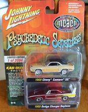 2021 JOHNNY LIGHTNING 2 Pack PSYCHEDELIC SEVENTIES 1968 Camaro & 1969 Charger