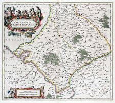 Reproduction carte ancienne - Pays Vexin 1661