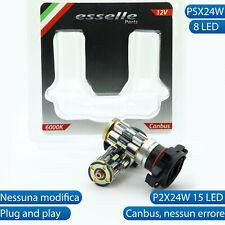 COPPIA LAMPADE PSX24W 8 LED CANBUS 6000K BIANCO PER LUCI DIURNE E FENDINEBBIA