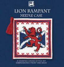 Textile Heritage Lion Rampant Needle Case Counted Cross Stitch Kit Scotland