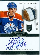 2013-14 DOMINION #200 NAIL YAKUPOV CUP ROOKIE RC AUTO 3 COLOUR OIL DROP GO BLUES