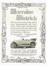 1912 Antique Vintage Lorraine Dietrich 1913 Torpedo Car Photo Print Ad