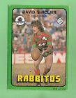 1978 SOUTH SYDNEY RABBITOHS RUGBY LEAGUE CARD #118 DAVID SINCLAIR