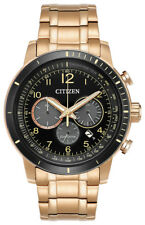 Citizen Eco-Drive CA4359-55E Men's Brycen Chronograph Rose Gold-Tone 44mm Watch