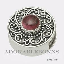 Authentic Lori Bonn Silver October Treat Pink Tourmaline Slide Charm 29911PT