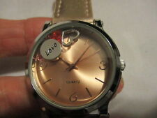 "AVON Lifes Value Strap Watch with Shaky Charms  9"" L Metallic Faux Leather LOVE"