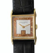 Vintage 40s Vacheron Constantin 18k Gold  Fancy Case Watch with  22mm Two Bands