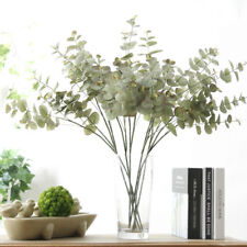 Artificial Greenery Eucalyptus Leaf Spray Silk Plastic Branches Plant Home Decor
