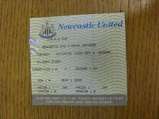 27/09/1994 Ticket: Newcastle United v Royal Antwerp [UEFA Cup] (Creased Folded).
