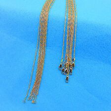 "30"" 10PCS Wholesale Making Jewelry 18K Gold Filled ""Water Wave"" Chains Necklaces"