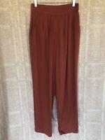 "Vintage Christy Girl NY High Waisted Pleated Pants Rust Orange 28""x31"" Sz12 90's"
