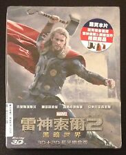 THOR The Dark World 3D Blu-Ray SteelBook Taiwan Region Free 2-Disc New OOP Rare!
