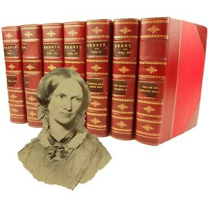 1899 Life and Works, Sisters Bronte.Complete-7v. Wuthering Heights,Jane Eyre,etc