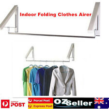 Indoor Clothes Line Instahanger Wall Mounted Folding Clothes Airer Laundry Rack