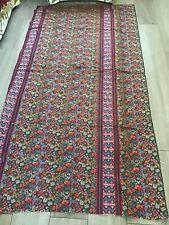 Vintage Floral Stripe Fabric Offcut