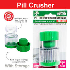 Pill Medicine Crusher Grinder Tool Tablet Box Pill Splitter Au