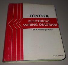 Werkstatthandbuch Toyota Supra MR2 Crown Celica Electrical Wiring Diagram 1987