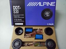 "ALPINE DDT-S30 1"" Soft Dome Balanced Car Tweeters 360W Modified Speaker Sound"