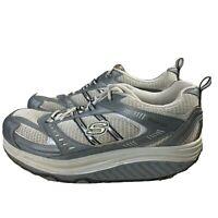 SKECHERS Shape-Ups White & Silver Walking Shoes 11814 Women's Size 11