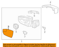 FORD OEM 12-14 Focus Outside Mirrors-Front Door-Mirror Glass Right CP9Z17K707A