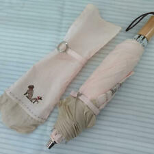 BURBERRY Folding Umbrella White Color Accessory from Japan Used