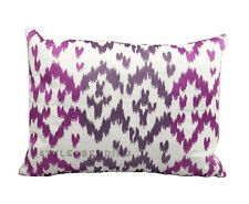 Blissliving Home Ikat Orchid Purple Pink Decoration Decorative Bed Pillow 12x16