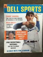 1964 Dell Magazine Sandy Koufax   Mickey Mantle How much longer?  May Yankees