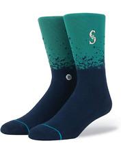 Stance MLB Fade Crew Socks Seattle Mariners Men's Medium 6-8.5 NWT Navy Green